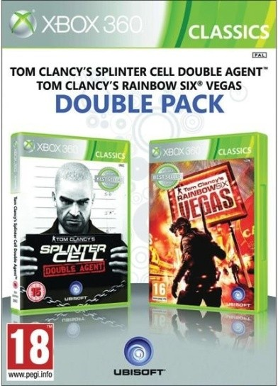 Double pack Tom Clancys Rainbow Six Vegas + Splinter Cell Double Agent (bazar, X360) - 229 Kč