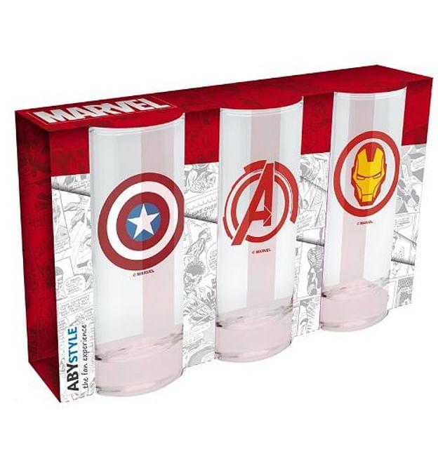 Sada sklenic Marvel (3 ks) - nové - 399 Kč