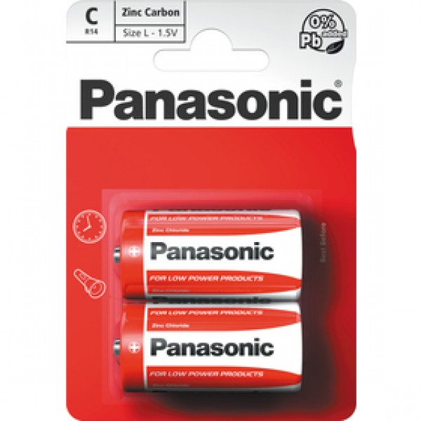 Panasonic R14 2BP C Red zn - 59 Kč