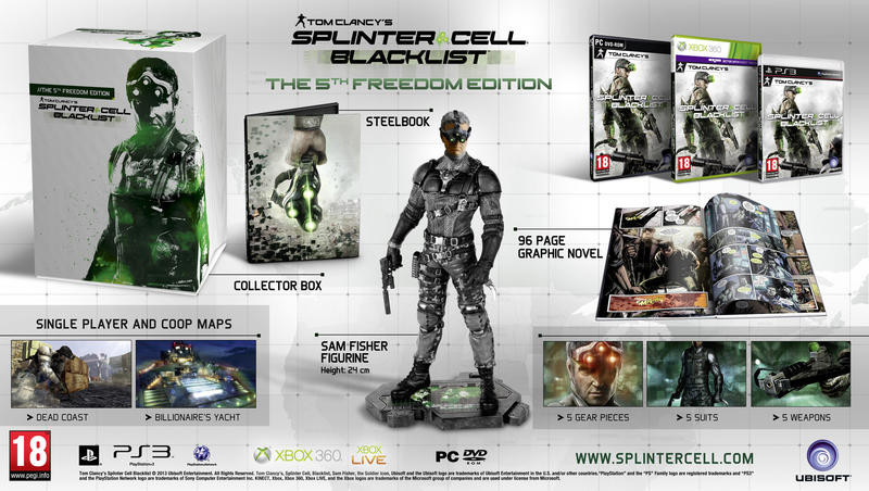 Tom Clancys: Splinter Cell: Blacklist CZ 5th Freedom Edition (bazar, X360) - 1490 Kč