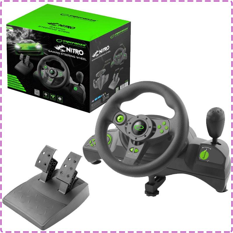 Esperanza EGW102 NITRO herní volant s vibracemi pro PC/PS3 (nový) - 1258 Kč