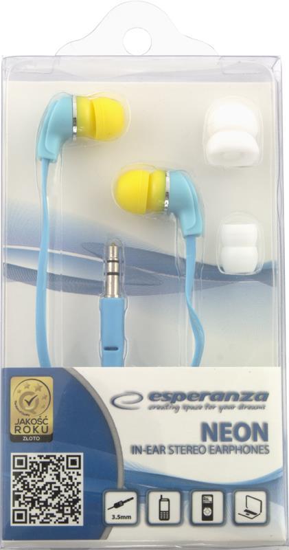 Esperanza EH147T NEON Stereo sluchátka - nová - 89 Kč