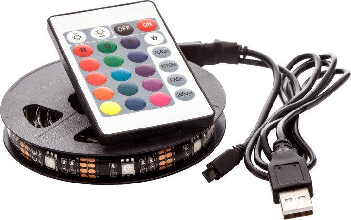 USB LED pás 5m, RGB, dálkový ovladač - nové - 599 Kč