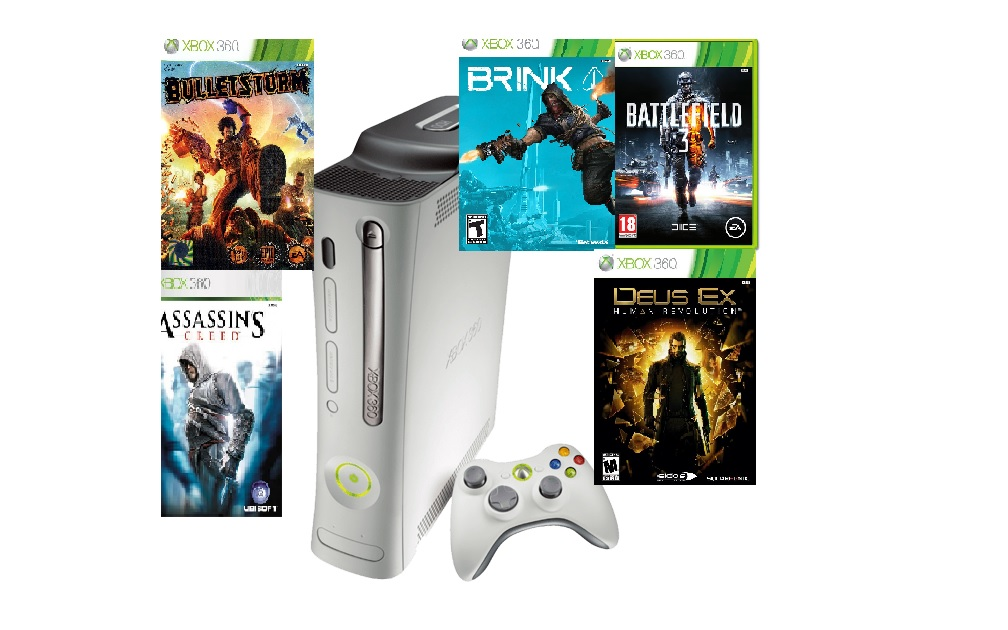 Microsoft Xbox 360 arcade 60GB  + 5 her(bazar) - 2599 Kč