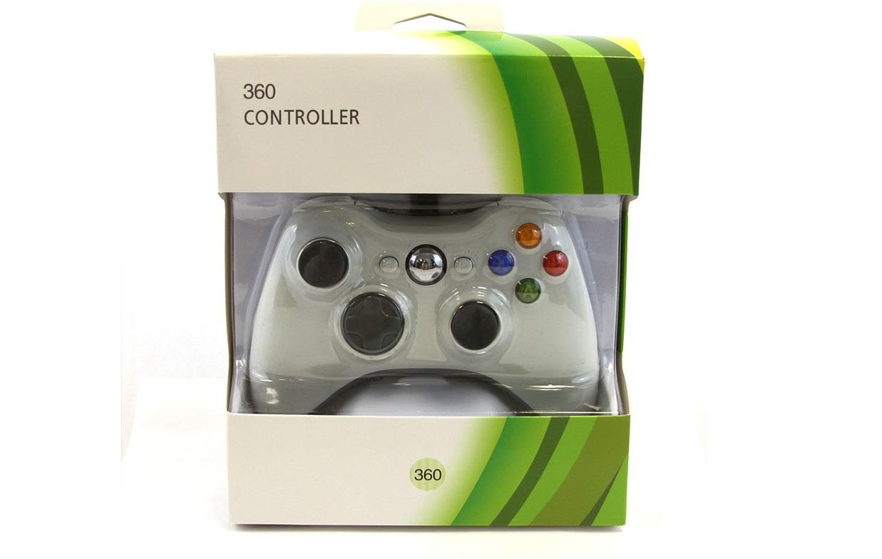 XBOX 360 Gamepad, ovladač drátový - White (nový) - 489 Kč